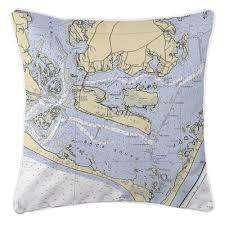 Longshore Tides Ellisburg Harkers Island Nc Throw Pillow