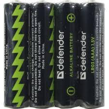 <b>Батарейки AAA Defender</b> LR03-4F 4 шт. — купить, цена и ...