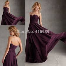 eggplant dresses for weddings. dark purple eggplant color chiffon sweetheart long cheap bridesmaid dress honor of maid wedding african dresses for weddings