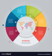 6 Piece Pie Chart Template 6 Options Pie Chart Template For Graphs