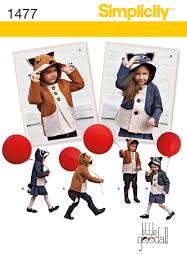 Simplicity Patterns On Sale Amazing Simplicity 48 Child's Fox And Racoon Felt Jacket