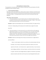 Mla Guidelines For Literature Essays