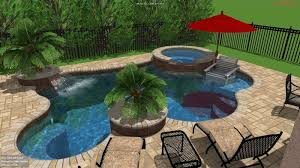 G 3 3D Freeform Pool And With Steps Greenery