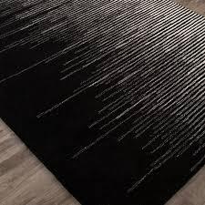 black modern wool rugs