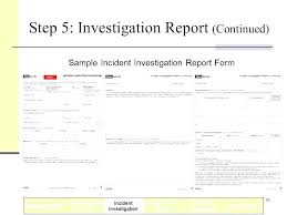 Sample Fire Investigation Report Template Solacademy Co
