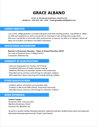 Resume Template For Fresh Graduate Svoboda2 Com