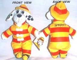 sparky the fire dog. sparky the fire fighter dog official bean bag