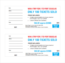 Microsoft Word Ticket Templates Cool 48 Raffle Ticket Templates PDF PSD Word Indesign Illustrator
