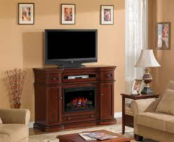 electric fireplace with tv above