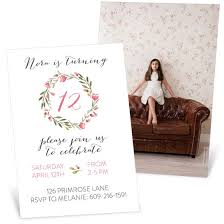 A Floral Fete Birthday Party Invitation