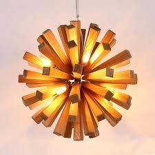 explosion chandelier led firework wooden pendant light hanging fixtures rustic lighting for restaurant loft country style