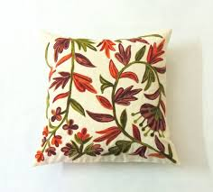 Sham throw Euro Toss 24x24 Floral Custom Embroidered
