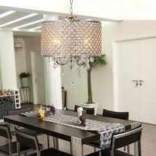 modern crystal metal drum chandelier ceiling hanging lamp pendant lighting room