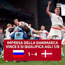 RSI Sport - ⚽🇷🇺🇩🇰 La Danimarca batte la Russia e diventa...