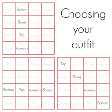 wardrobe template. how to choose your outfit wardrobe template