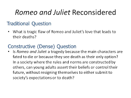revision main themes key scenes character possible essay questions  romeo and juliet reconsidered