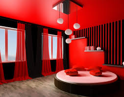 Red Bedroom Curtains Bedroom Romantic Red And Black Bedroom Design With Nice Curtains