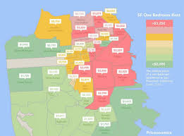 san francisco neighborhoods where onebedrooms are expensive