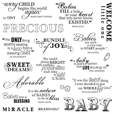Miracle Baby Quotes Simple Fiskars Clear Acrylic Stamps 448 X 448 Precious Baby Quotes