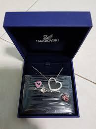 swarovski pink heart lock pendant brand nib love necklace 848563 women s fashion jewellery necklaces on carou