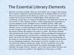 tackling the poetry essay ppt video online  4 the essential literary elements