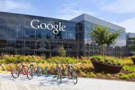 google office in usa. MOUNTAIN VIEW, CAUSA - July 14, 2014: Exterior View Of A Google Headquarters Office In Usa