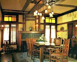 lighting for dining. Craftsman Style Dining Room Table Lighting Arts And Crafts For
