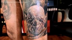 татуировка с изображением азога и смауга Lorenzo Em