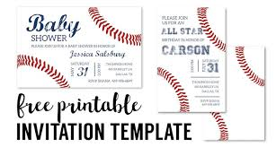 patriotic invitations templates baseball party invitations free printable paper trail design