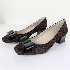 Ellen Tracy Shoes | Ellen Tracy Barton Pump Leopard Calf Hair W Patent |  Poshmark