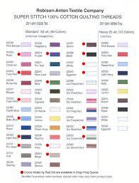 Color Chart - Super Stitch™ Cotton Quilt Threads: Manufactured by ... & Super Stitch 100% Cotton Quilting Thread Color Chart Adamdwight.com