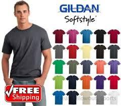 Details About Gildan Softstyle T Shirt Ring Spun Cotton Soft Short Sleeve Blank Light T 64000