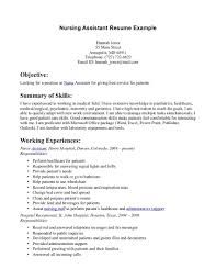 Certified Nursing Assistant Resume Templates Certified Nursing Assistant Resume Examples Nice Sample Resume 7