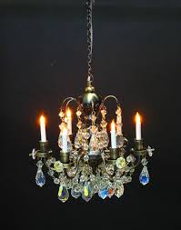 heidi ott dollhouse miniature light 1 12 scale real chrystal 6 up arm brass chandelier yl7701