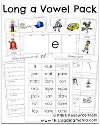 Words that end in ff, ll or ss to make the ending. Long A Vowel Pack