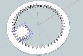 Internal Gear Design Drawing Gears In Sketchup Capolight Electronics Projects