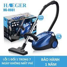 Máy hút bụi, máy hút bụi gia đình cầm tay Haeger HG8661- 1200W hút được cả  thảm, sofa, lông chó mèo