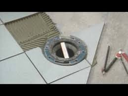 toilet level with tile