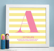 Print Name Personalised Framed Name Definition Print By Modo Creative