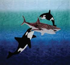 Gallery | Ocean4 & Orca Fighting Great White Shark Quilt Adamdwight.com
