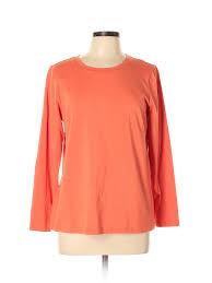 Details About Bob Mackie Women Orange Long Sleeve T Shirt L