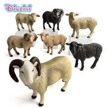 Kawaii <b>Simulation</b> Sheep Lovely Farm animal model Goat Figure ...