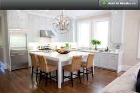 square kitchen island - 6' x 7' island with medium size restoration  hardware light