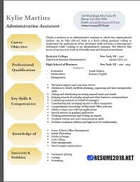 Sample Resume Templates 2018 Best Administrative Assistant Resume Examples 28 Resume 28