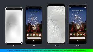 Google Pixel Size Chart Pixel 4 And Pixel 4 Xl Size Comparison With Apple Samsung