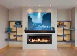 minimal accents have maximum impact when paired with the panoramic décor linear fireplace