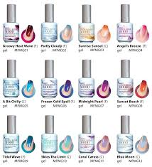 Wave Gel Matching Color Chart Lechat Perfect Match Mood Color Changing Gel Nail Polish New