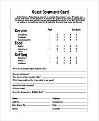 Restaurant Survey Cards Sample Restaurant Feedback Forms 7 Free Documents In Word Pdf