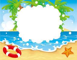 夏のイラストno456ビーチフレーム無料のフリー素材集花鳥風月