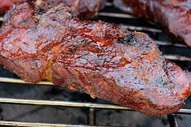 country style ribs smoked on big green
